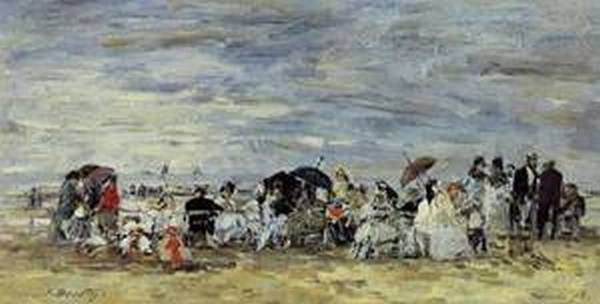 Trouville Beach Scene2 1873